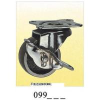 Wholesale Cast Iron small caster swivel plate with brake 099 from china suppliers