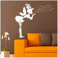 Quality Angel Magic Fairy & Stars 3D Mirror Wall Sticker Kids Bedroom Decoration Gift Creative for sale