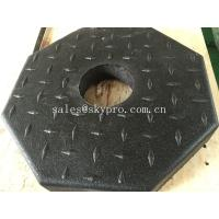 Wholesale Outside use black pole rubber pedestal / octagon crumb rubber base support from china suppliers