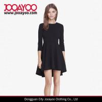 Wholesale Three Quarter Sleeves Round Neck Hi Lo Hem Fit And Flare A-line Dress from china suppliers