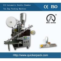 Automatic Double Chamber Malawi CTC Tea Bag Packing Machine with Thread and Tag