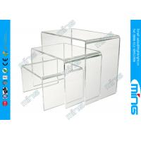 Buy cheap Shop Display Clear Acrylic Display Stands Stack Risers Stand Holder from wholesalers