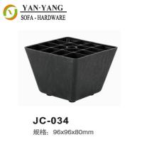 Wholesale black decorative furniture legs injection plastic square sofa legs JC-034 from china suppliers