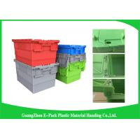 Wholesale Recyclable Logistic Plastic Attached Lid Containers For Transporting from china suppliers