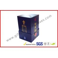 Wholesale Paper Wine Bottle Gift Box With Golden Embossed Text / Rigid White Wine Box from china suppliers