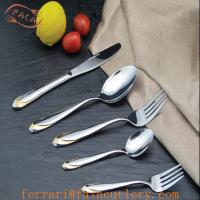 Wholesale Handle Golden Pattern International Picnic Tableware Design from china suppliers