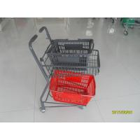 Wholesale Two Tier Flat Wheel Airport Shopping Basket Trolley 50L CE / GS / ROSH from china suppliers