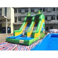 Wholesale Single Lane Green Jungle Commercial Inflatable Slide Zoo Printing For Children from china suppliers