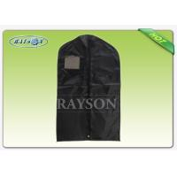 Wholesale Black Red Garment Packaging Bag With Name Card Window , Non Woven Cloth Bags from china suppliers