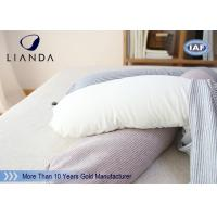 Quality Promotional Gift Red Memory Foam Pillows For Car / Train , Microbeads Material for sale