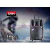 Wholesale Battery Powered Bluetooth Portable Trolley Speaker With Fm Radio / Wireless Mic from china suppliers