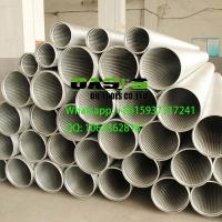 Buy cheap stainless steel continuous slot wire wrapped Johnson screens for well drilling from wholesalers