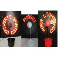 Wholesale Charming 110MM LED Flashing Fan For Business Gifts / LED Light With Fan from china suppliers