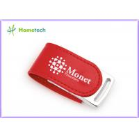 Wholesale 4GB Red Leather Usb Flash Drive Nice Leather Cover Usb Pen Drive With Custom Logo from china suppliers
