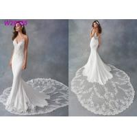 China Spaghetti Strap Sheath Vestido White Mermaid Wedding Dress De Noiva Boho Dubai Arabic for sale