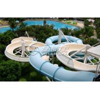 Wholesale Large Outdoor Waterpark Fiberglass Water Slides / Spiral Water Slide for Extreme Water Park from china suppliers