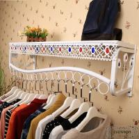 Wholesale metal clothes display shelves wall rack from china suppliers