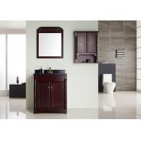 Wholesale Light Brown Square Sinks Bathroom Vanities Silver Mirror With Plywood Mirror Shelf from china suppliers