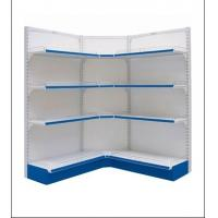 Wholesale White PVC Powder Coated Electric Galvanized Steel Storage Shelving Corner Shelves from china suppliers