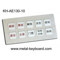 Wholesale IP65 Rugged Full Metal Keyboard Kiosk with customized layout design 10 Keys from china suppliers