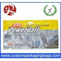 Quality Laminated Aluminum Foil Plastic Ziplock Bags For Fish Feed Packing With Window for sale
