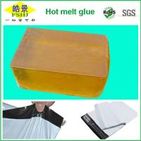 Quality Yellow Transparent Hot Melt Glue Block For Express Bag Sealing Strong Adhesion for sale