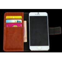 Wholesale case leather for iphone 6 folio flip cover with wallet card holder from china suppliers