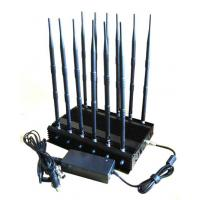 Quality 12-band Jammer GSM DCS Rebolabile 3G 4G WIFI GPS and RF Bugs from 130 to 500 Mhz for sale