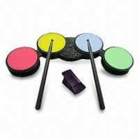 Wholesale Drum Game Controller for Wii/PS2/PS3, Includes Foot Pedal, a Pair of Drum Sticks, and Stand from china suppliers