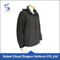 Quality Breathable Dark Grey Fleece Security Guard Apparel Waterproof 100% Polyester for sale