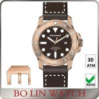 Wholesale Super Luminous Bronze Automatic Watch , Italy Leather Bronze Diver Watch from china suppliers