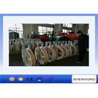 Wholesale Large Diameter Rope Pulley Single Nylon Wheels Diameter 916mm Stringing Conductor from china suppliers