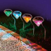 Wholesale New LED Colorful Diamond Lights Lawn Lamp Solar Courtyard Light Path Lights Garden Lights Villa Lamp from china suppliers