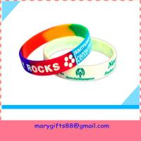 Buy cheap cheapest custom silicone bracelet with saying from wholesalers