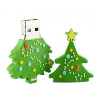 Wholesale Customized USB Flash Drive, Christmas Tree USB 2.0 Memory Stick Storage Device from china suppliers