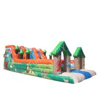 Wholesale Commercial Inflatable Water Slide Bounce House 0.55mm PVC Tarpaulin from china suppliers