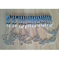 Wholesale High top quality napkin holder dental bib crocodile clip flexible metal silver ball chain from china suppliers