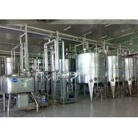 Wholesale Turn Key Project Fresh Milk Processing Machine / Dairy Production Equipment with Pasteurization from china suppliers