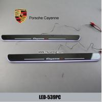 Wholesale Porsche Cayenne car Moving door Step Pedal welcome light led projection from china suppliers