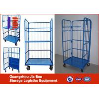 Wholesale Metal Movable Warehouse Mobile Storage Logistics Trolley , Industrial Steel Wire Cart from china suppliers
