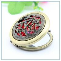 Wholesale Russian style Hollow out rhinestone metal pocket mirrors from china suppliers