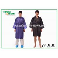 Wholesale Disposable Spa Robes Nonwoven Material Made PP Kimono , Black / Purple from china suppliers