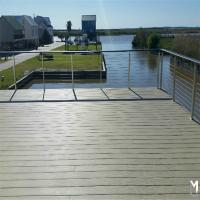Wholesale Galvanized steel deck railing with 4mm wire rope design from china suppliers