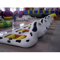 Wholesale White Inflatable Fishing Boats 0.9mm PVC Tarpaulin For Playing Center from china suppliers