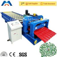 Wholesale Simens PLC control Roofing Glazed Tile Roll Forming Machine 45# Steel Roller from china suppliers