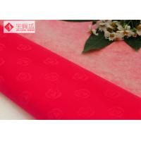 Wholesale 1.48m Red Printed Velvet Fabric , Flock Fabric Material 100% Nylon Jewelry Box Liner Fabric from china suppliers