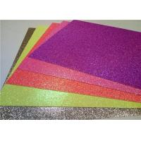Wholesale Heat - Resistant Sticky Back Glitter Paper , Handmade Adhesive Glitter Paper from china suppliers
