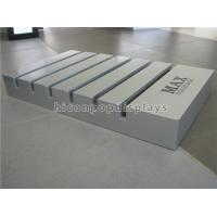 Wholesale Wood Slotted Tile Display Racks Free Standing Custom Size Tile Showroom Display from china suppliers