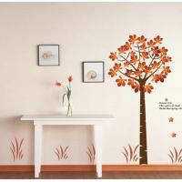 Wholesale Eco-Friendly Red Tree Removable Wall Stickers Vinyl For Gift from china suppliers