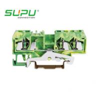 Wholesale Wago Din Rail Mounted Spring Terminal Blocks , Spring - Clipping Connect Ways from china suppliers